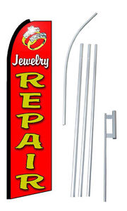 Complete 15 Jewelry Repair Kit Swooper Feather Flutter Banner Sign Flag