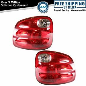 Taillight Tail Lamp Rear Brake Light Lamp Pair Set For 00 04 Ford F150 Truck