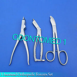 3 Asortead Orthopedic Surgical Instruments Forceps Pack