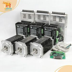 Cnc Kit 3axis Nema34 Stepper Motor 1232oz in 5 6a driver Dq860 7 8a