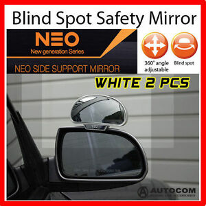 Neo Side Wide Blind Spot Rear Side Angle View Mirror For Car Truck White 2 Pcs
