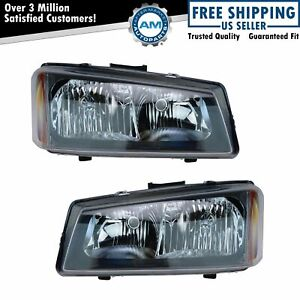 Headlights Headlamps Left Right Pair Set For Silverado Avalanche Pickup Truck