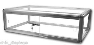 Jewelry Display Case Silver Countertop Case Tempered Glass Case Fixture Boutique