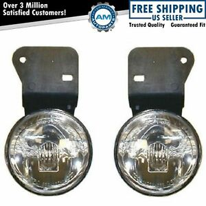 Fog Driving Lights Lamps Left Right Pair Set New For 99 05 Pontiac Grand Am