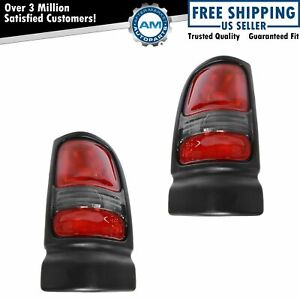 Taillights Taillamps Rear Brake Lights Left Right Pair Set For Dodge Ram Truck