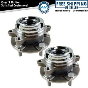 Front Wheel Hubs Bearings Pair Set Of 2 For Nissan Maxima Altima V6 W Abs