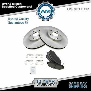 For 03 08 09 10 Honda Accord Acura Tl Front Ceramic Brake Pad Disc Rotor Kit