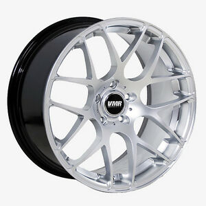 20x9 10 Vmr 710 Staggered Hyper Silver Wheel 5x120 Rim