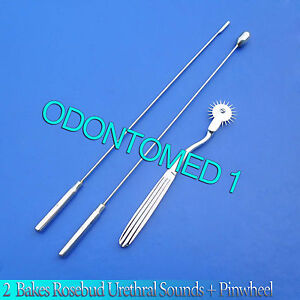 2 Pcs Bakes Rosebud Urethral Sounds 4mm 11mm pinwheel