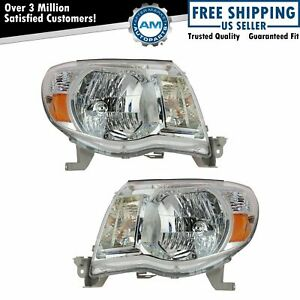 Headlights Headlamps Left Right Pair Set For 05 11 Toyota Tacoma Pickup Truck