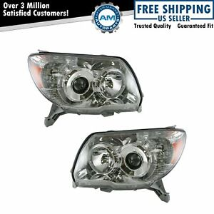 Headlights Headlamps Left Right Pair Set New For 06 09 Toyota 4runner