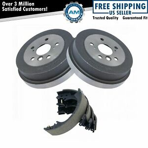 Rear Brake Drums Pair Shoe Left Right Set Kit New For Toyota Camry Solara
