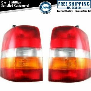 Rear Brake Taillights Taillamps Lights Pair Set For Jeep Grand Cherokee Wagoneer