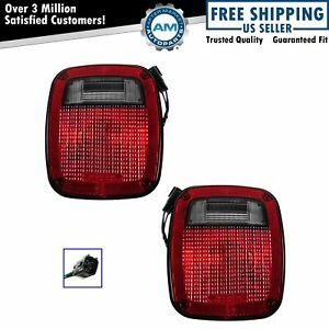 Taillight Taillamp Pair Set For 98 06 Jeep Wrangler New