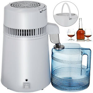 4l Pure Water Distiller Purifier Stainless Steel Internal Water Filter 750w