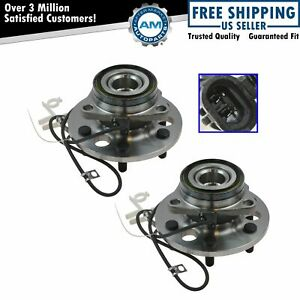 Front Wheel Hub Bearing Pair Set For Chevy K1500 Pickup Tahoe W Abs 4wd