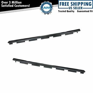 Outer Front Window Sweep Weatherstrip Seal Pair Set For Chevy Gmc Pickup Truck
