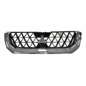 Chrome Black Front Grille Grill For 00 01 Mitsubishi Montero Sport