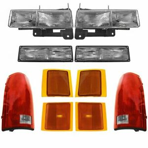 Headlights Parking Corner Lights Taillights Kit Set Of 10 For Chevy C K Blazer