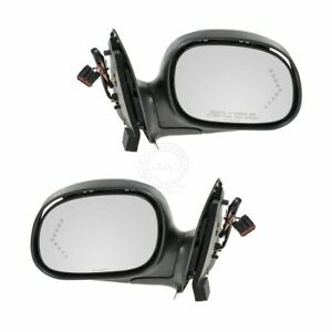 Dorman Black Signal Power Side Mirror Pair For 98 04 F 150 Truck
