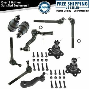 Front Ball Joint Tie Rod End Pitman Idler Arm Kit For C1500 C2500 Suburban