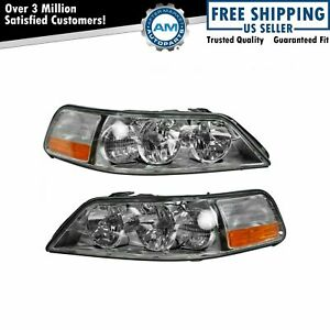 Headlights Headlamps Left Right Pair Set New For 05 11 Lincoln Town Car