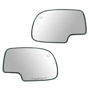 Mirror Glass Power Heated Lh Rh Pair Set For Chevy Silverado Gmc Yukon Avalanche