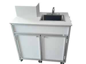 Propane Powered Self Contained Portable Sink hot cold Water no Electricity Reqd