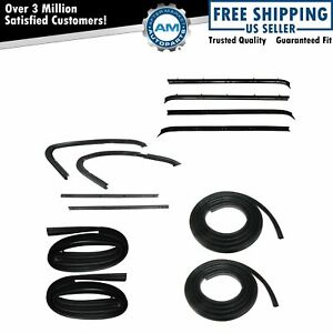 Door Weatherstrip Rubber Seal Kit 12 Pc Set For 73 80 Chevy Gmc Pickup Truck