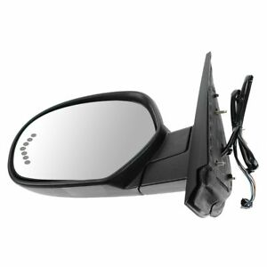 Side View Mirror Power Heated Signal Smooth Black Driver Left Lh For Chevy Gmc