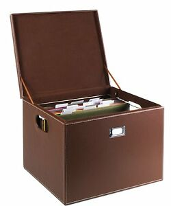 G u s Decorative Office File And Portable Storage Box For Hanging Folders