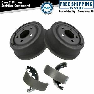 9 Rear Brake Drum Bonded Shoe Set Pair Kit For Jeep Wrangler Pickup Truck