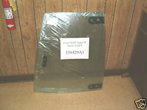 338429a1 Case 580m 580sm 590sm 580 Super M Left Upper Door Glass Window Ser 1
