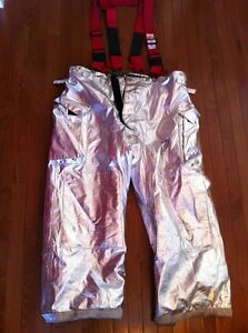 Morning Pride Firefighter Turnout Pants 44 X 30 Bpr7602ps Very Good Nomex Bunker