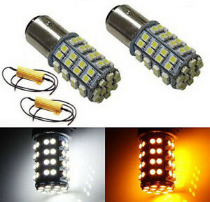 60 Smd 1157 Switchback Led Bulbs 60 Smd White 60 Smd Amber Free Load Resistors