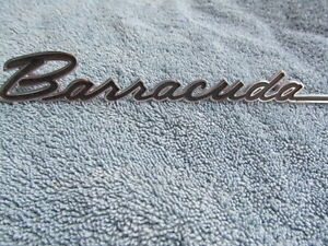 1967 Plymouth Barracuda Nos Front Fender Emblem