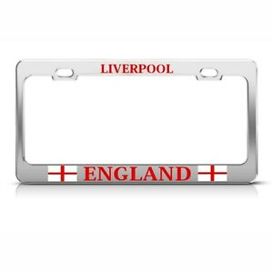 Liverpool England Us Country Metal License Plate Frame Tag Holder