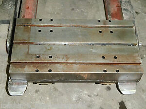 26 X 14 T slotted Steel Table Layout Welding Weld Plate T slot Cast Iron A a a