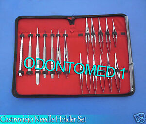 Set Of 20 Castroviejo Micro Surgery Needle Holder Curved straight Kit