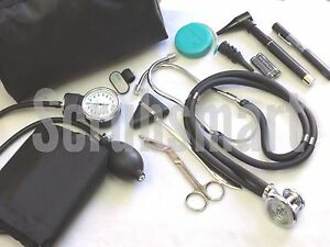 Nurse Student Starter Kit 5 Navy Blue Stethoscope Bp Cuff more 9 Piece Set