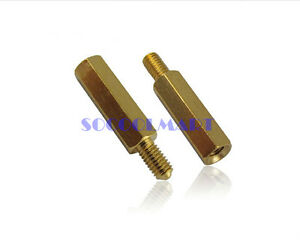10pcs M5x20 Copper Column Male Hexagon Stand off Spacers 7mm Thread Length