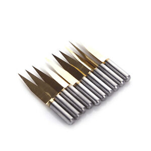 20 Degree 0 2mm Tip Titanium Coated Carbide Pcb Engraving Bits Cnc Router Tool