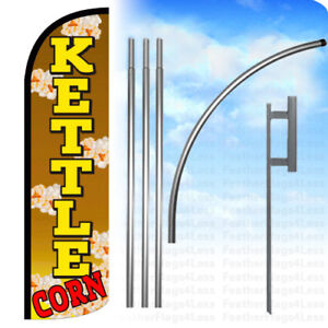 Kettle Corn Windless Swooper Flag Kit 15 Feather Banner Sign Q