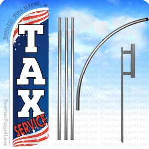 Tax Service Windless Swooper Flag Kit 15 Feather Sign Patriotic Bq