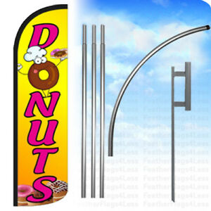 Donuts Windless Swooper Flag 15 Kit Feather Banner Sign Yq