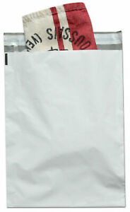 500 Pieces 9 X 12 White Poly Mailers Envelopes Self Sealing Bags 3 Mil