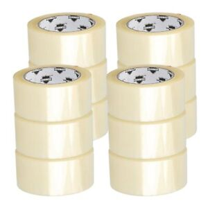 12 Rolls Carton Sealing Clear Packing shipping box Tape 2 3 Mil 2 X 110 Yards