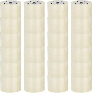 48 Rolls Clear Carton Sealing Packing Box Shipping Tape 2 3 Mil 3 X 110 Yds