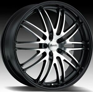 18x8 Advanti Racing Prodigo 5x108 40 Black Rims Wheels