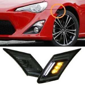 White amber Led Smoked Lens Side Marker Blinker Lights For Scion Fr s Subaru Brz